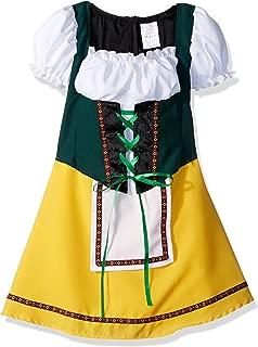 RG Costumes Bavarian Girl Costume, Green/Yellow/White, Small