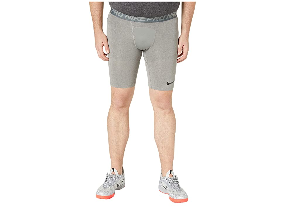 Nike Big Tall Pro Shorts (Carbon Heather/Dark Grey/Black) Men