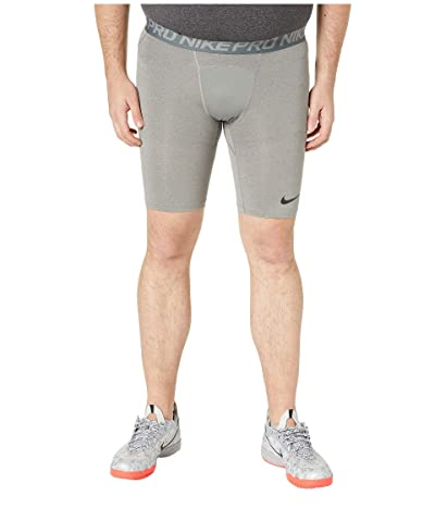 Nike Big Tall Pro Shorts (Carbon Heather/Dark Grey/Black) Men