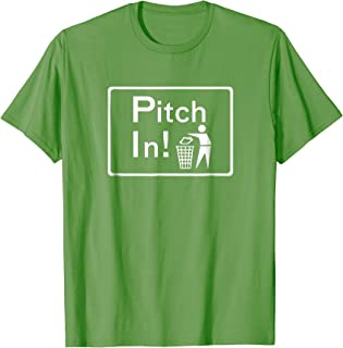 Pitch-In Anti-Littering Campaign t-shirt