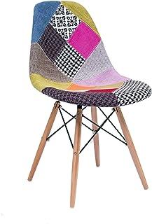 Homely - Silla de Comedor o Cocina MAX Patchwork, de diseño nórdico-Scandi, Inspiración Silla Tower