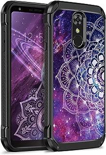 YINLAI LG Stylo 4 Phone Case Mandala,LG Stylus 4 Case,LG Q Stylus Case,LG Stylo4 Plus Case,Glow in The Dark Slim Heavy Duty Shockproof Hybrid Hard PC Protective Cover for LG Stylo4 2018,Mandala/Galaxy