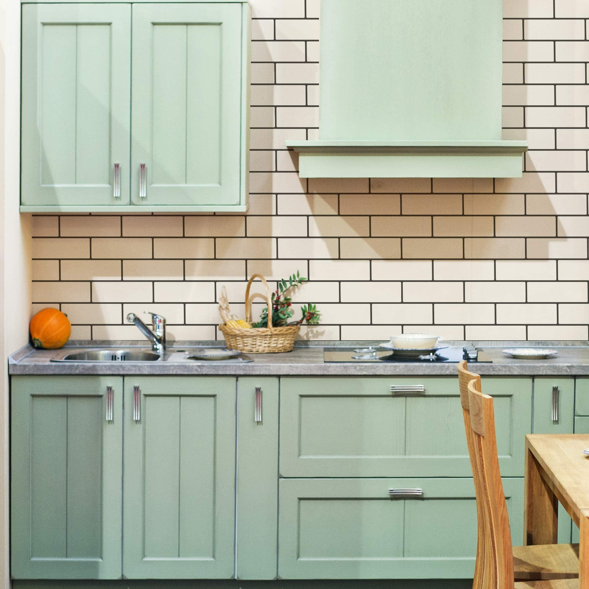 Subway Tiles Wall Pattern Stencil For Painting Tiled Kitchen Backspash Or Modern Brick Wall Design Arts Crafts Sewing