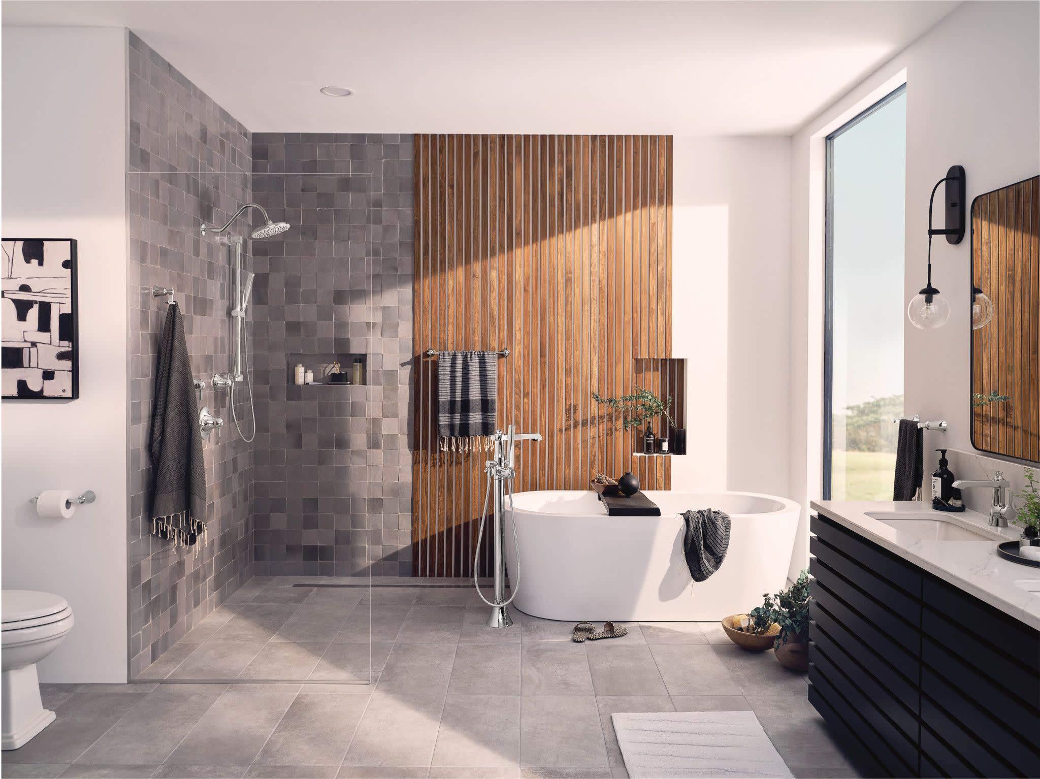 MOEN Hand Shower Handheld Showerhead Wall Mount 3 Spray Setting Bathroom Chrome