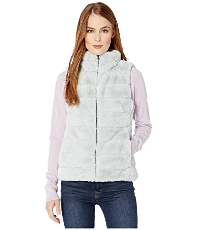 Dylan by True Grit Faux-Fur Love Vest with Matching Lining (Chambray) Women