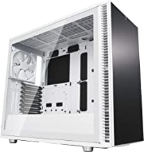Fractal Design Define S2 - Mid Tower Computer Case - High Airflow and Silent - PSU Shroud - Modular Interior - Water-Cooling Ready - USB Type C - Light Tint Tempered Glass Side Panel - White Tg