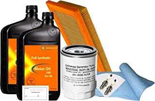 UGP Universal Generator Parts Replacement for Generac 0J93230SSM 20Kw-22Kw SM 999 Maintenance Kit (Synthetic Oil)
