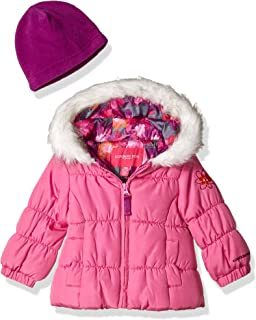 Baby Girls Winter Coat with Scarf & Hat