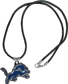 NFL Siskiyou Sports Fan Shop Detroit Lions Cord Necklace 21 inch Black