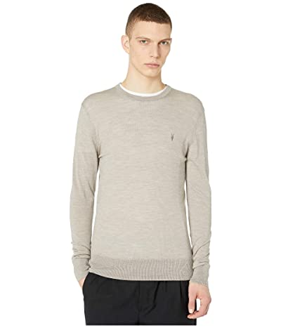 AllSaints Mode Merino Crew Sweater (Shale Taupe Marl) Men