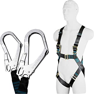 Arnes de seguridad trabajo | Cuerda seguridad | Anticaida seguridad, Conexión media amortiguador Y 1,5 m | Cuerda para arnes seguridad & proteccion | EN 361 EN 354 EN 8513 | Max 100 kg