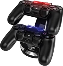 PowerBear PS4 Controller Charger Station for 2 Remotes with Micro USB Cable