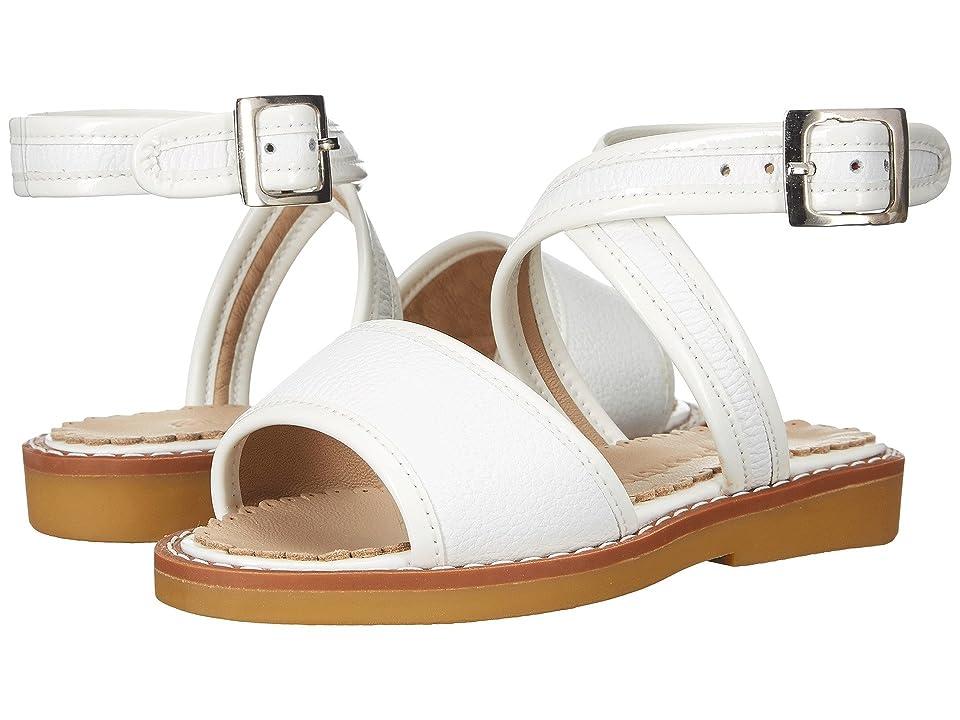 Elephantito Valeria Sandal (Toddler/Little Kid/Big Kid) (White) Girls Shoes