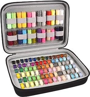 Bobbin Holder, Bobbins Case Thread Organizer, Bobbins Spool Storage Box Holds Up to 84pcs Bobbins and 24pcs Sewing Thread ...