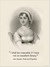 Jane Austen Excellent Library Quote Print. Fine Art Paper, Laminated, or Framed. Multiple Sizes for Library, Home, Office, or School