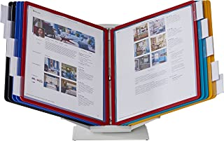 Durable 551500 VARIO Pro Desktop Reference System, 10 Panels, Legal, Assorted Borders & Panels