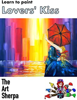 Learn to paint Lovers Kiss in the City with The Art Sherpa