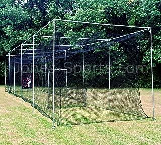 Jones Sports Batting Cage Net 10' x 12' x 60' #42 HDPE (60PLY) with Door Heavy Duty Baseball