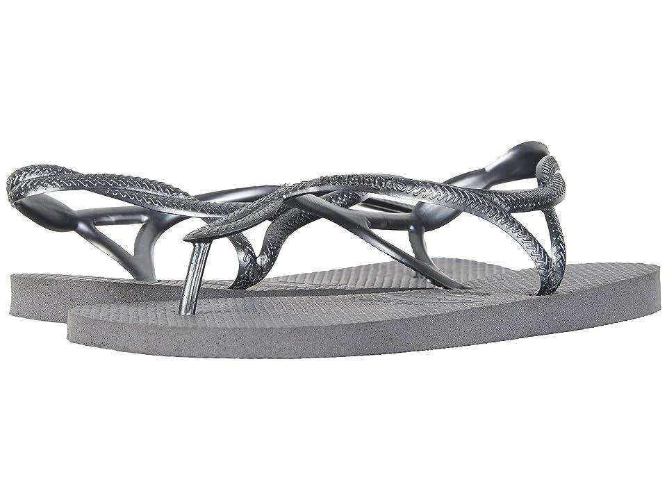 Havaianas Luna Flip Flops (Steel Grey) Women