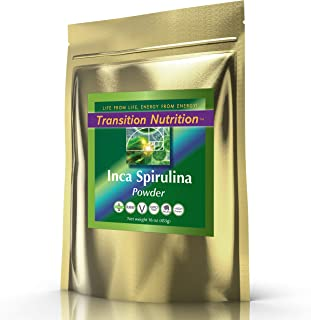 Transition Nutrition 16 oz Spirulina Powder (Inca) Raw Andes Mountains - Vegan and Gluten Free - Raw and Organic