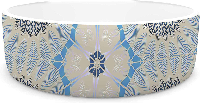KESS InHouse Angelo Cerantola Satori  Beige bluee Pet Bowl, 7