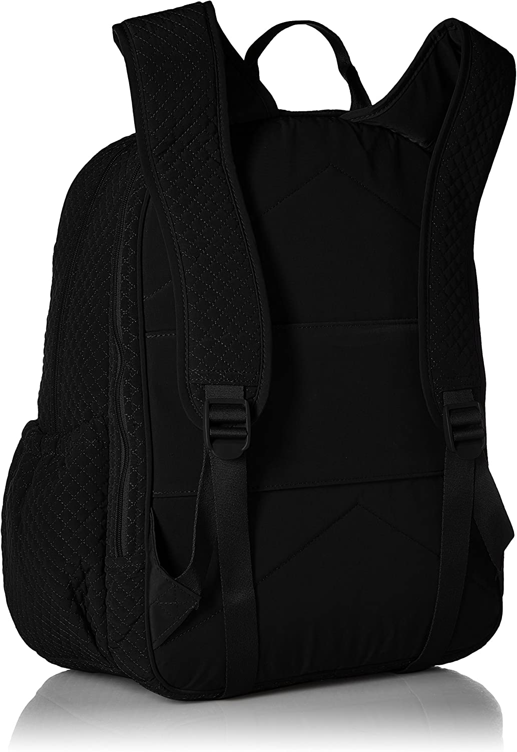 Vera Bradley Women's Microfiber Campus Backpack, Classic Black, One Size: Shoes