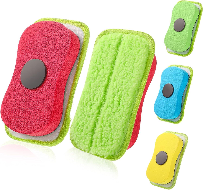 4 Pieces Microfiber Dustless Financial sales sale free Chalk Eraser Chalkboard Washable E