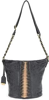 Women's Vegan Leather Chase Bucket Large Crossbody Bag