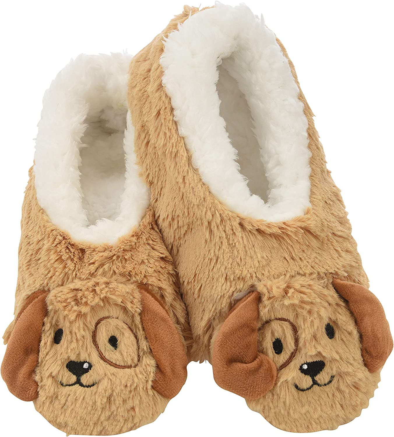 Snoozies Womens Slippers Animal Furry Foot Pals - Animal Slippers for Women