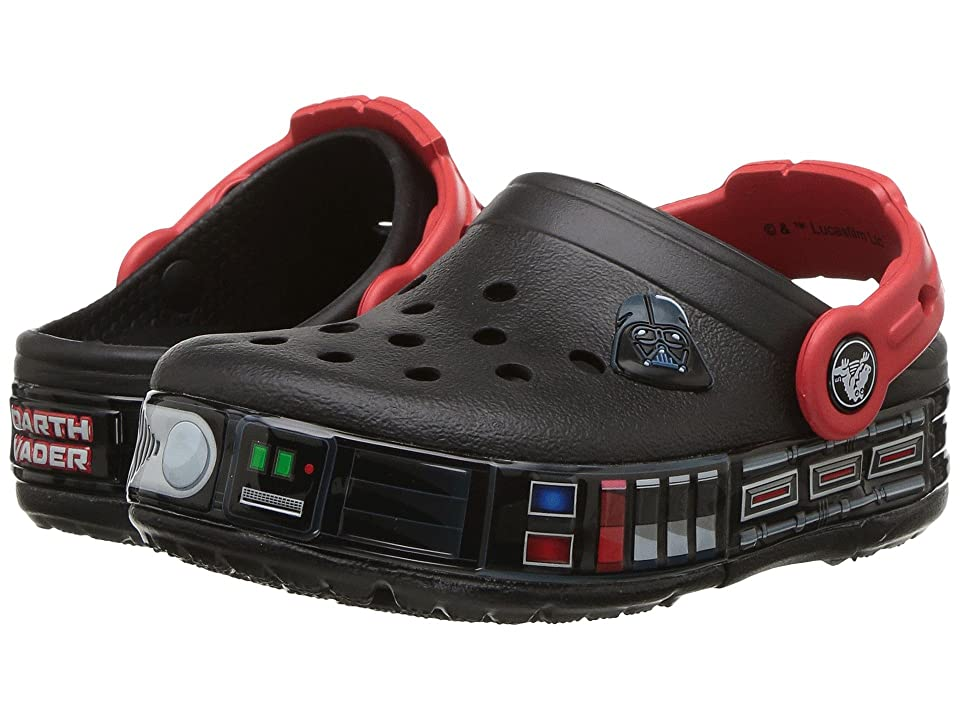 Crocs Kids Crocband Fun Lab Darth Vader Lights Clog (Toddler/Little Kid) (Black) Boys Shoes
