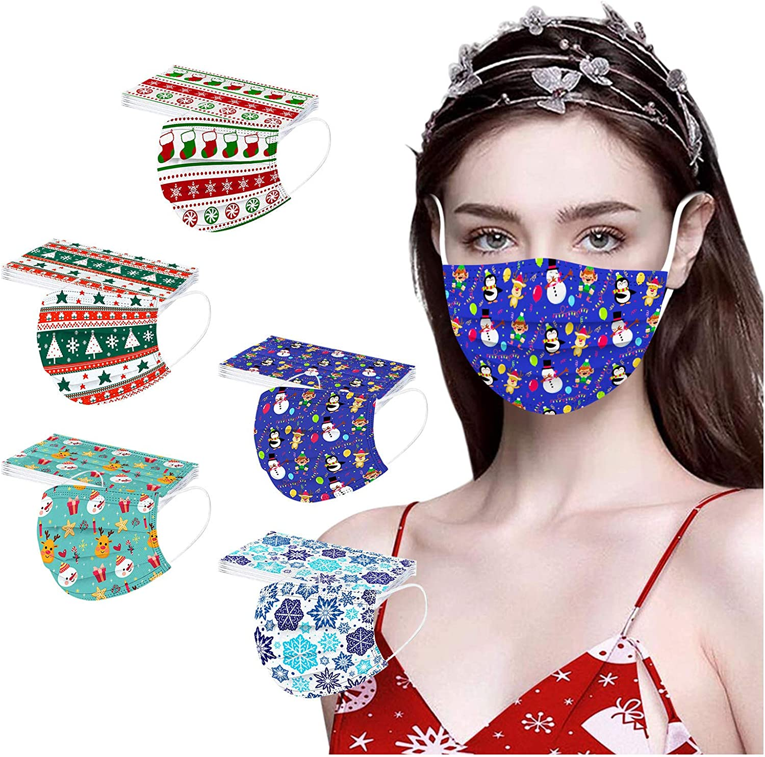 FZAI Disposable Christmas Adults free shipping Face_Mask_ Ba Ranking TOP16 Breathable Cotton