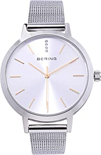 BERING Time 13434-001 Women Classic Collection Watch with Stainless-Steel Strap and Scratch Resistent Sapphire Crystal. Designed in Denmark