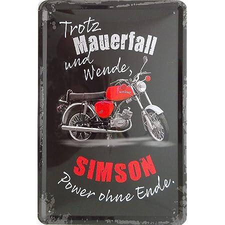 Vielesguenstig 2013 Blechschild Schild 20x30cm Trotz Mauerfall Und Wende Simson Power Ohne Ende S51 Enduro Moped Küche Haushalt