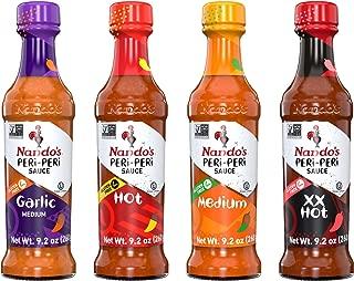 Nando's PERi PERi Sauce Garlic, Medium, Hot, Extra Extra Hot 9.1oz, 4PK