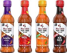 Nando's PERi PERi Hot Sauce Lovers Pack - Garlic, Medium, Hot, Extra Extra Hot - 9.1oz Bottles, 4PK