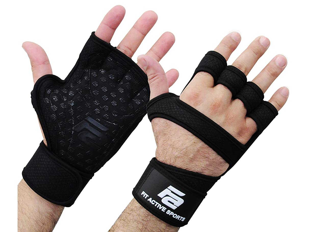 Fit Active Sports RX1 Weight Lifting Gloves for Workout, Gym Cross Training - Pull Ups, Kettlebells, Deadlifts, Weightlifting - Men & Women - More Grip, More Reps
