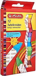 Kreda tablicowa Herlitz, 12 sztuk w wiszącym opakowaniu, różne kolory