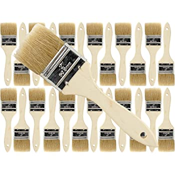 Pro Grade - Chip Paint Brushes - 24 Ea 2 Inch Chip Paint Brush