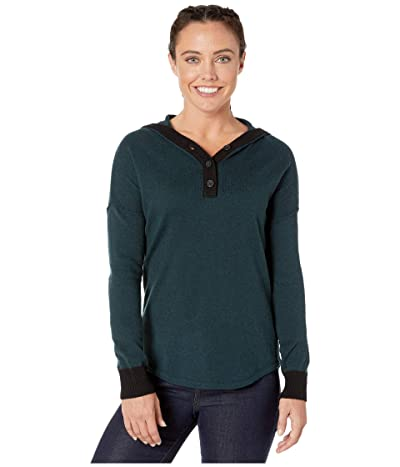 Smartwool Shadow Pine Hoodie Sweater (Everglade Heather) Women