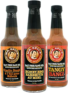 Mr. Spice 3-Pack Organic - Salt Free Sauce - Fat Free Marinade - Gluten Free - Vegan - Low Calorie - Honey ...