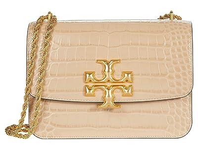 Tory Burch Eleanor Embossed Convertible Shoulder Bag (Perfect Sand) Handbags