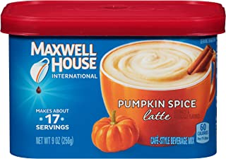 Maxwell House International Cafe Instant Pumpkin Spice Latte (9 oz Canister)