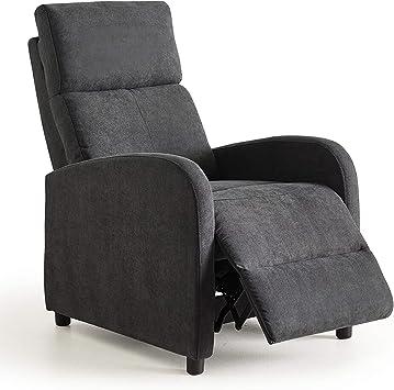 sill/ón Relax reposapies Color Gris c/ómodo y Compacto para sal/ón Home Heavenly/®- Butaca reclinable