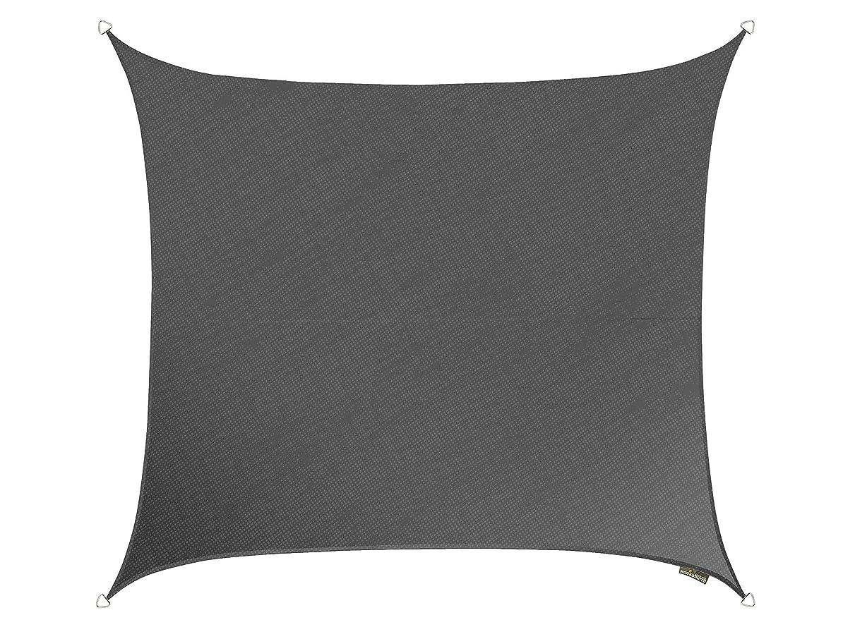 セットアップクリープインストラクタークッカバラ 炭色通気性日除けシェードセイル(ニット織) - 紫外線93.3%カット - OL0126SSS (3m正方形)