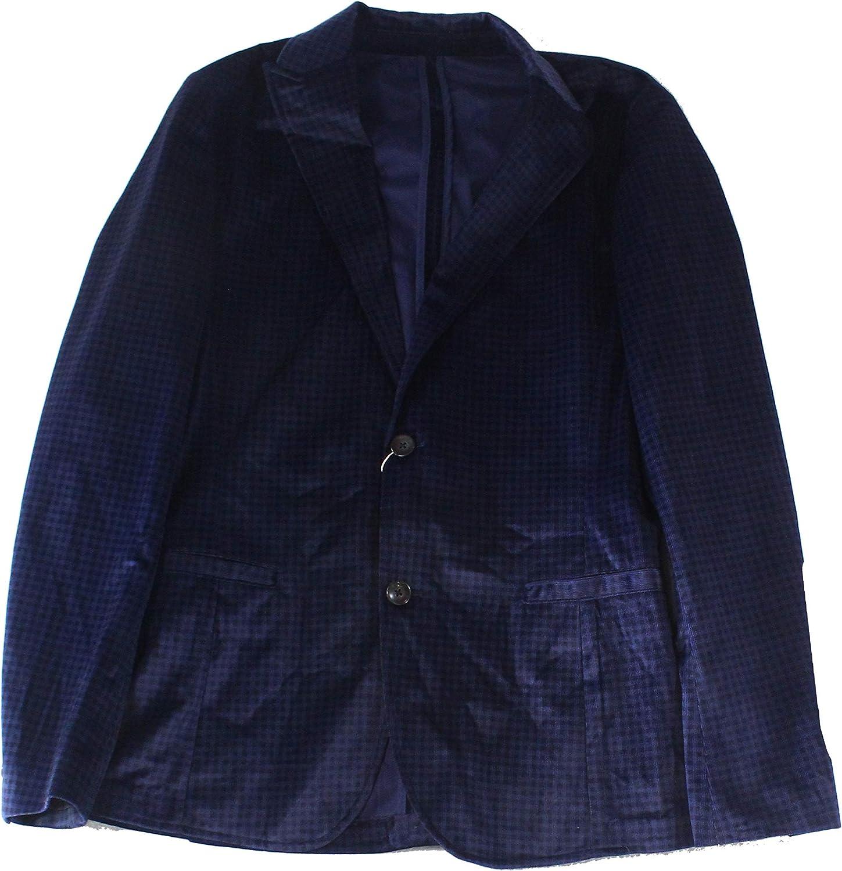 Ryan Seacrest High quality new Distinction Men's Direct sale of manufacturer Velvet Blazer Slim-Fit Check