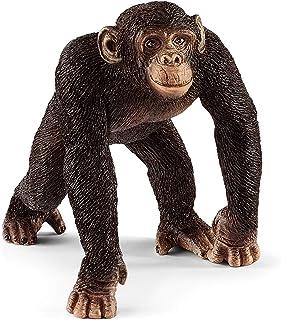 SCHLEICH SC14817 Male Chimpanzee Toy Figure 5.7 inches Brown