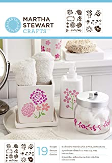 Martha Stewart Crafts Adhesive Stencils (5.75 by 7.75-Inch), 32269 19 Blossoms Designs