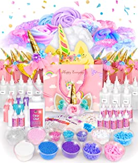 Original Stationery Unicorn Party Supplies for 12 Kids Complete Unicorn Happy Birthday Decorations - Unicorn Party Favors with Slime Supplies Stuff (258 Pcs, Cake Topper, Banner, More)