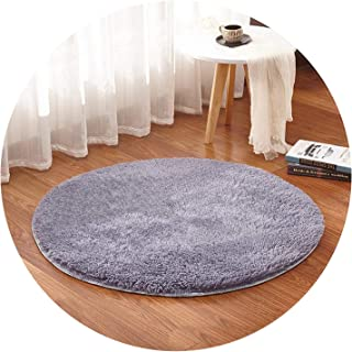 Show-Show-Fashion Shop&Room Rugs Soft and Fluffy Warm,Black Red Color Size, Diameter 60,80,100,120,160cm,Grey,Diameter 160 cm