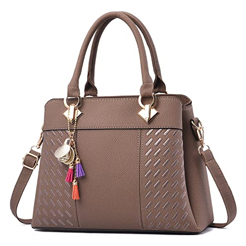 Barwell Women s Handbags PU Leather Tote Top Handle Shoulder Bags 27a8298442bb4